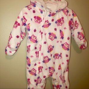 Other - CUDDLE BEAR Owl Full Zip Hooded Fleece Baby Coat